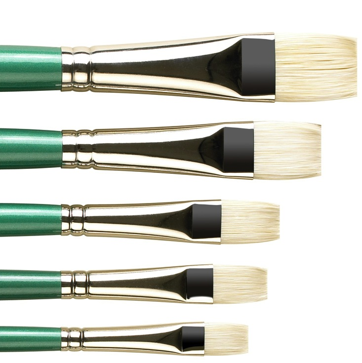 Pro Arte Series A Hog Brushes Short Flat Size 4
