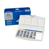 Winsor and Newton Cotman Painting Plus 24 Half Pans Watercolour Set