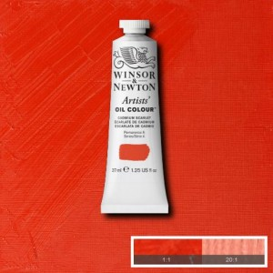 Cadmium Scarlet Winsor and Newton Artists' Oils 37ml